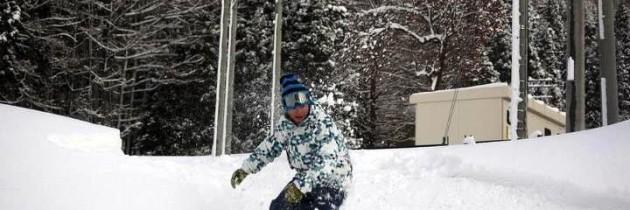 雪地滑板滑行物理學